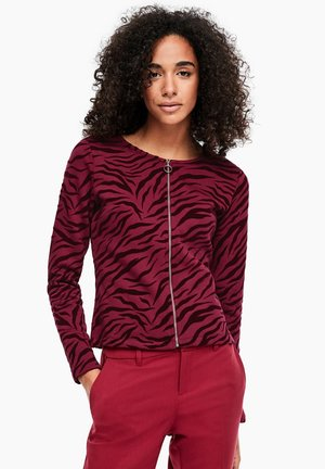 Zip-up hoodie - burgundy