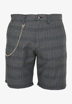 LEROY - Shorts - grey/white