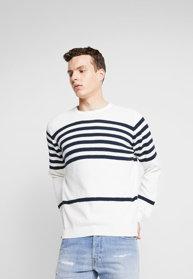 THE ORGANIC MULTISTRIPED KNIT - Jumper -  marshmallow