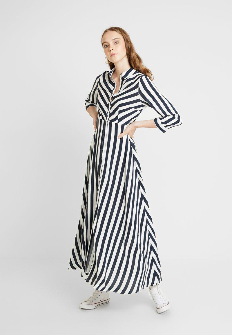 YAS - YASSAVANNA LONG DRESS - Maxi dress - carbon/star white