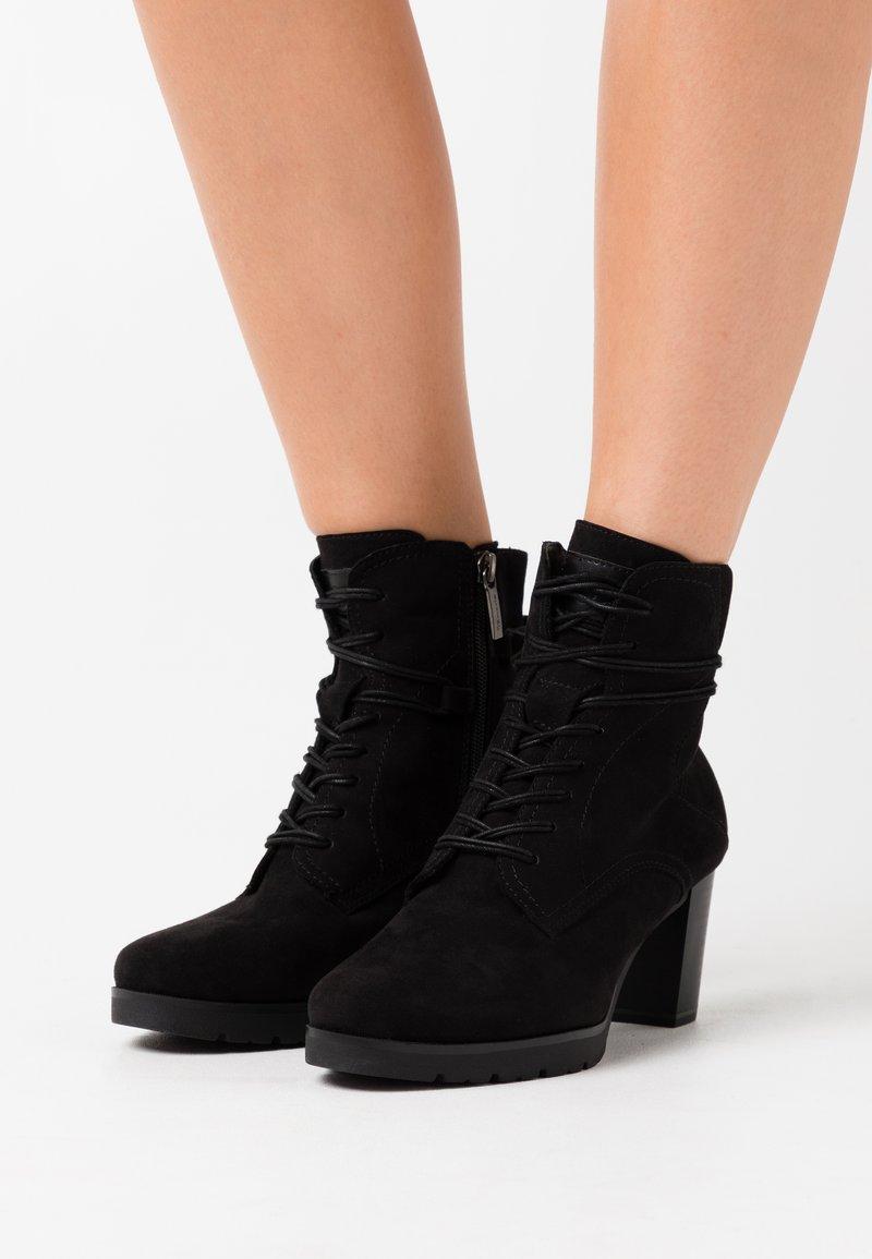 Tamaris - BOOTS - Platåstøvletter - black