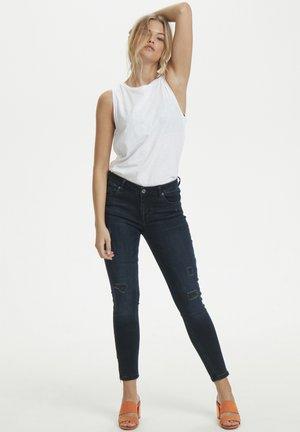 40 THE CELINAZIP TORN CUSTOM - Jeans Skinny Fit - dark blue wash