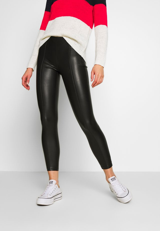 ONLTIA SUPERSTAR LEGGING - Pantalones - black