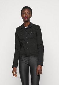 Vero Moda Tall - VMHOT SOYA JACKET - Denim jacket - black - 0