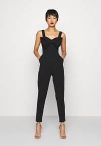 WAL G. - BOW DETAIL JUMSPUIT - Jumpsuit - black - 0