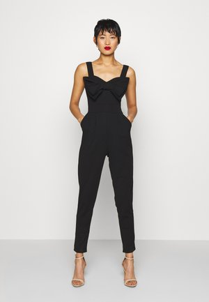 BOW DETAIL JUMSPUIT - Jumpsuit - black