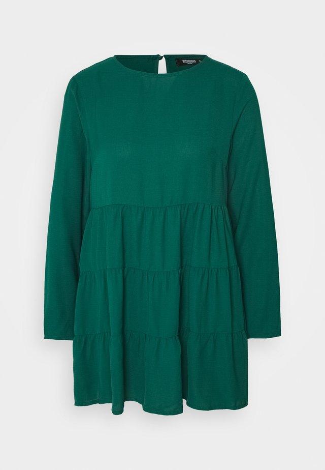 TIERED SMOCK DRESS  - Day dress - dark green