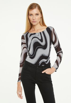 Long sleeved top - black moire