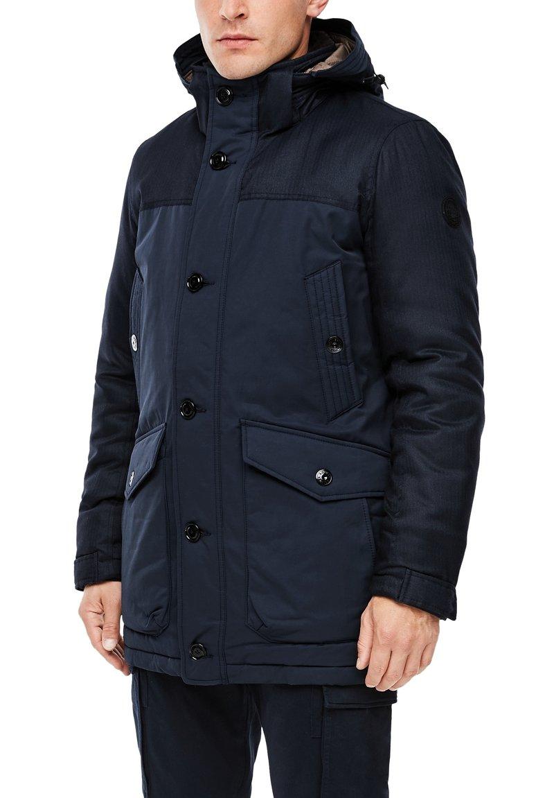 s.Oliver - IM FABRIC MIX - Winter coat - dark blue