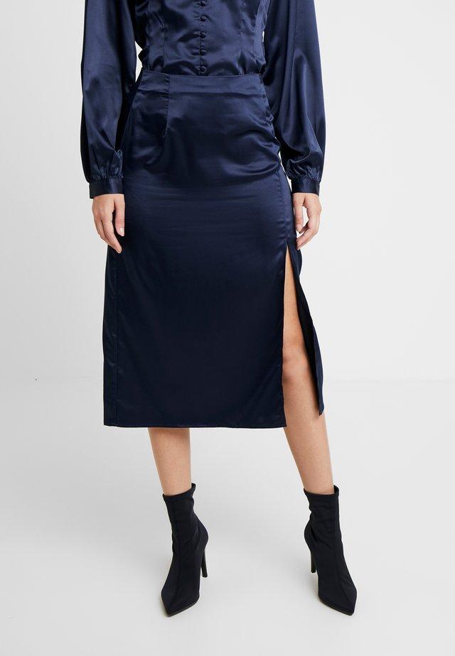 NATHAN SKIRT - Falda de tubo - navy