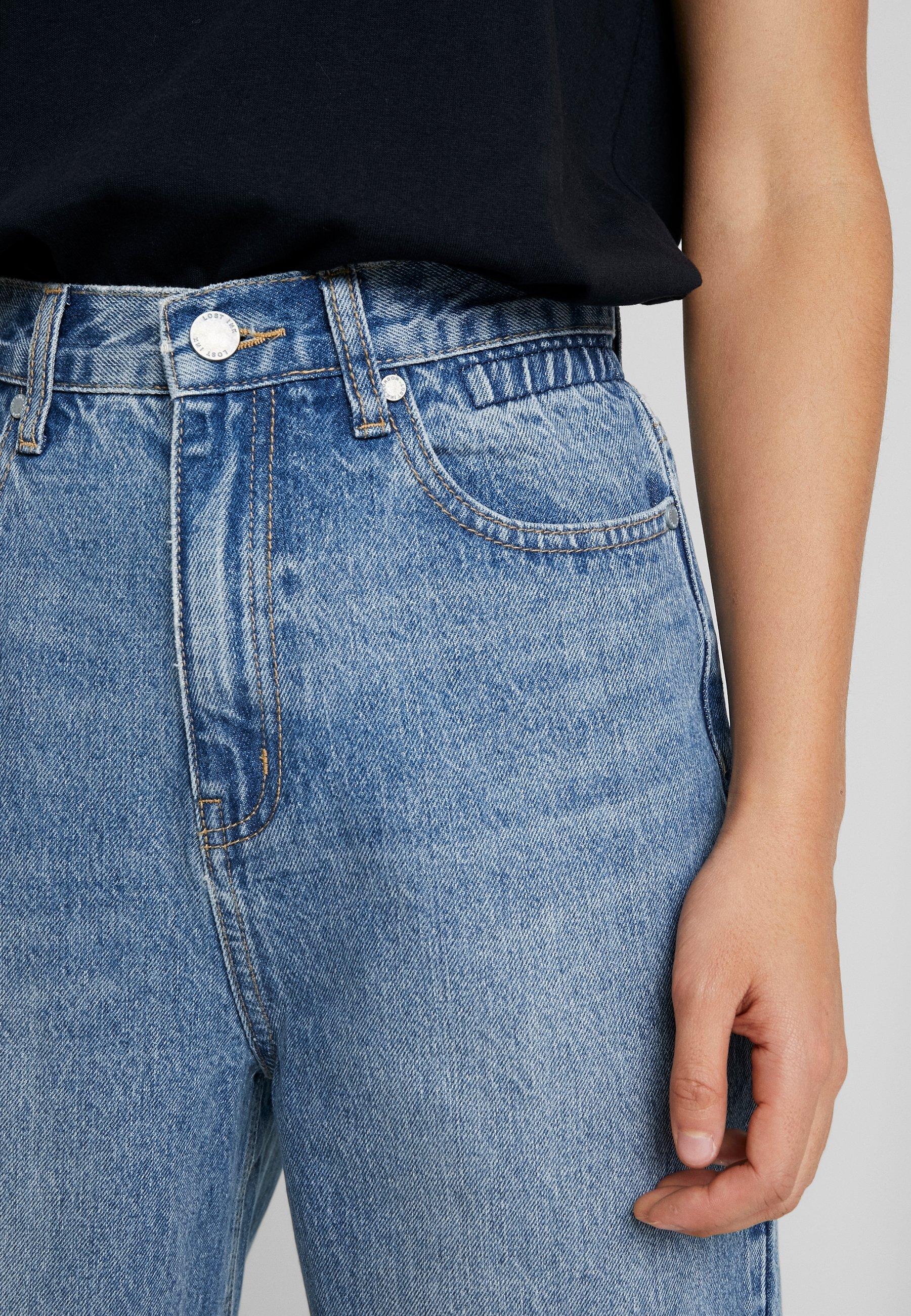 Lost Ink Petite CROP WIDE LEG JASMINE - Jeans straight leg - light denim