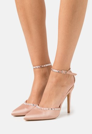 TRIM HEELED SHOES - High heels - champagne