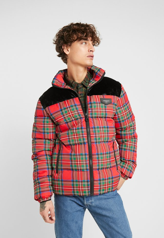 TARTAN PUFF COAT - Kurtka zimowa - black/red