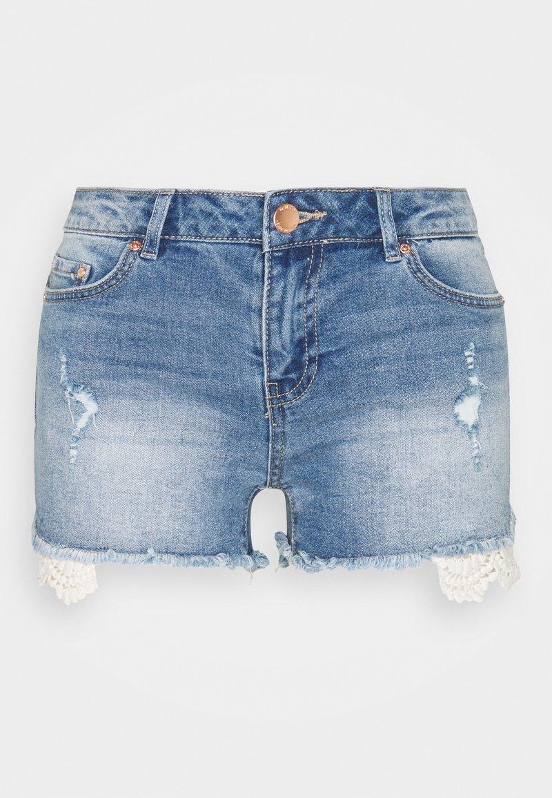 ONLY Tall - ONLCARMEN LIFE - Denim shorts - medium blue denim