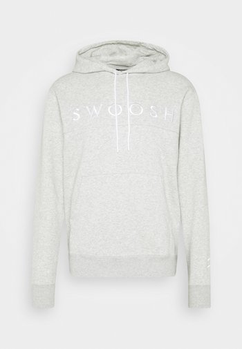 HOODIE - Sweat à capuche - grey heather/white