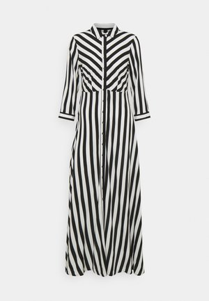 YASSAVANNA LONG DRESS - Vestito lungo - black/ white stripes