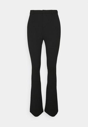 VMAMIRA FLARED PANT - Spodnie materiałowe - black