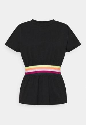 RIB INSERT  - Camiseta estampada - black