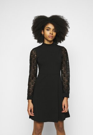 ONLMILLE LIFE MIX DRESS - Jersey dress - black