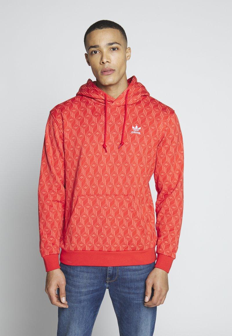 adidas Originals - GRAPHICS GRAPHIC HODDIE SWEAT - Hoodie - red/stiora