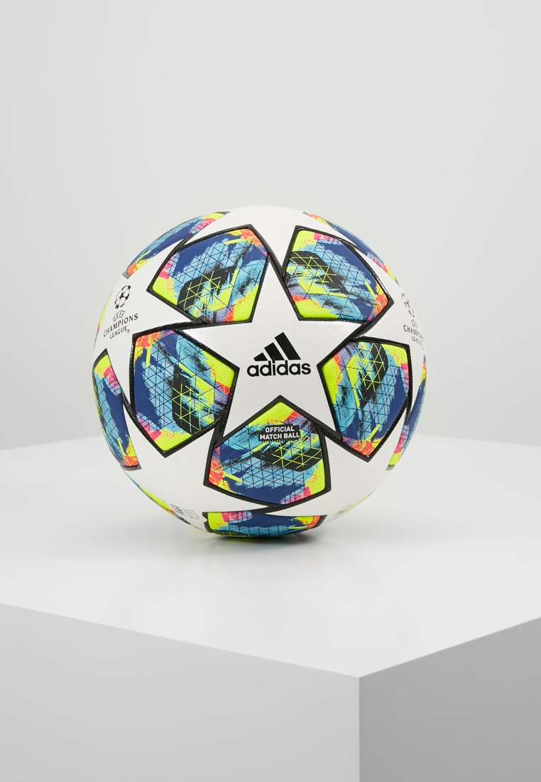 adidas Performance - FINALE - Fodbolde - white/bright cyan/shock yellow