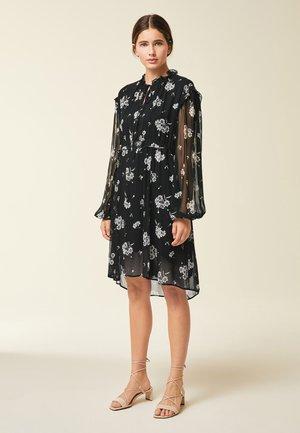 Day dress - aop/fine flower black