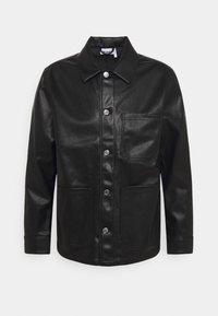 JOSH UNISEX - Imitatieleren jas - black