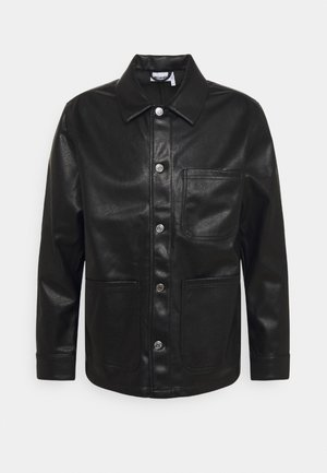 JOSH UNISEX - Faux leather jacket - black