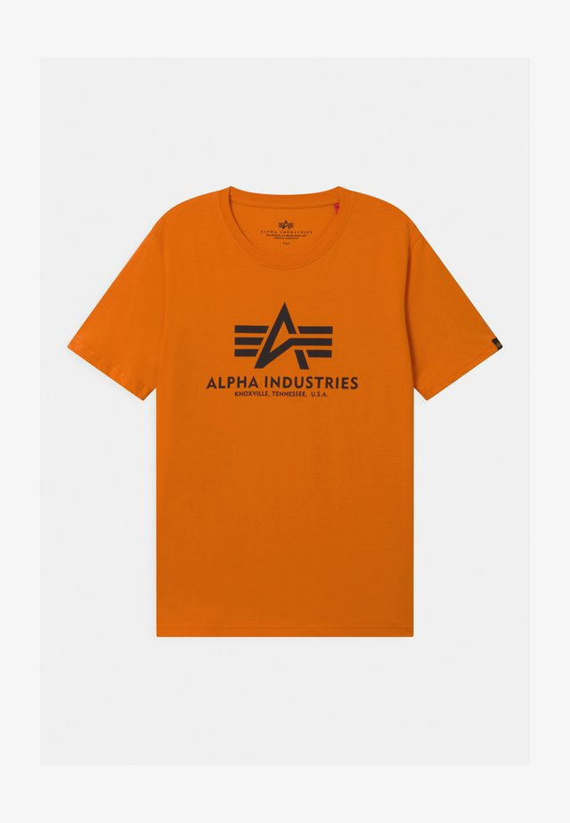 BASIC - Print T-shirt - orange