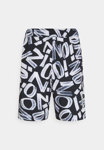 ZION WILLIAMSON SHORT - Pantalón corto de deporte - black/light smoke grey/white