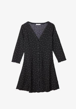 BEDRUCKTES MIT KNÖPFEN  - Day dress - black