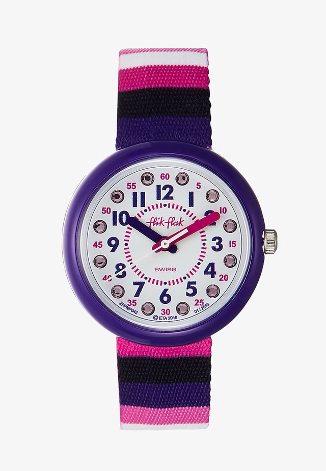 STRIPE UP YOUR LIFE - Horloge - lila pink
