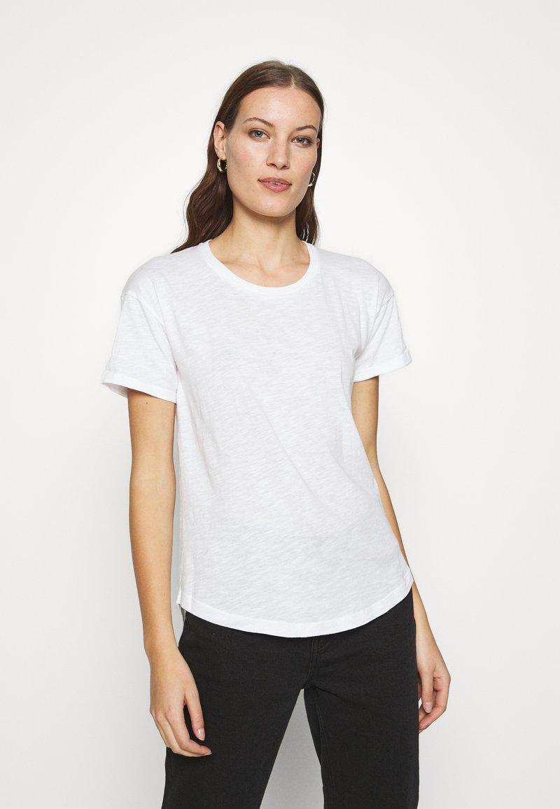 Madewell - WHISPER CREWNECK TEE - T-shirts - optic white