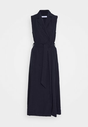 LAPEL COLLAR DRESS ANKLE LENGTH - Pouzdrové šaty - navy blue