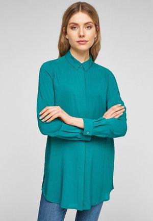 Button-down blouse - petrol