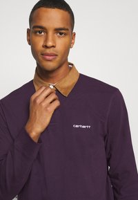 Carhartt WIP - RUGBY - Polo - boysenberry/hamilton brown/white - 4