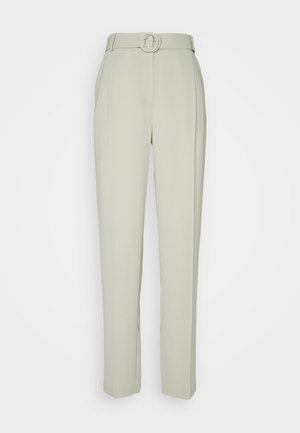 GEO BUCKLE DETAIL TROUSER - Trousers - sage