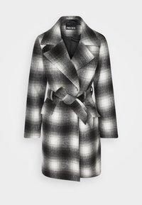 PCSIENA COAT - Short coat - grey/brown
