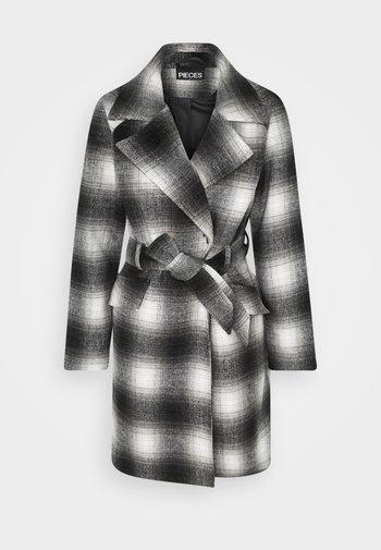 PCSIENA COAT - Krátký kabát - grey/brown