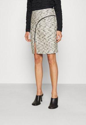 PHOENIX SKIRT - Mini skirt - black/white