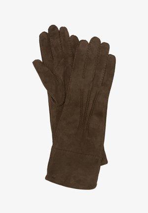UNTERARMLANGE  AUS FEINEM ZIEGEN-VELOURSLEDER - Gloves - deep walnut