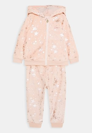 HOODED ACTIVE TOP AND PANTS BABY SET - Felpa aperta - light pink