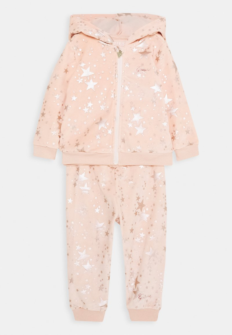 Guess - HOODED ACTIVE TOP AND PANTS BABY SET - Sweatjacke - light pink