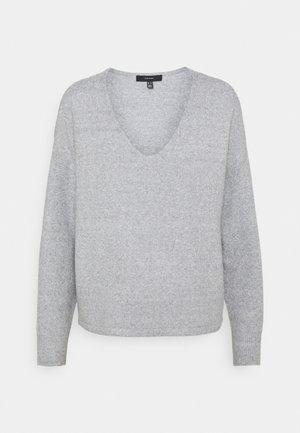 VMDOFFY V-NECK - Maglione - light grey melange