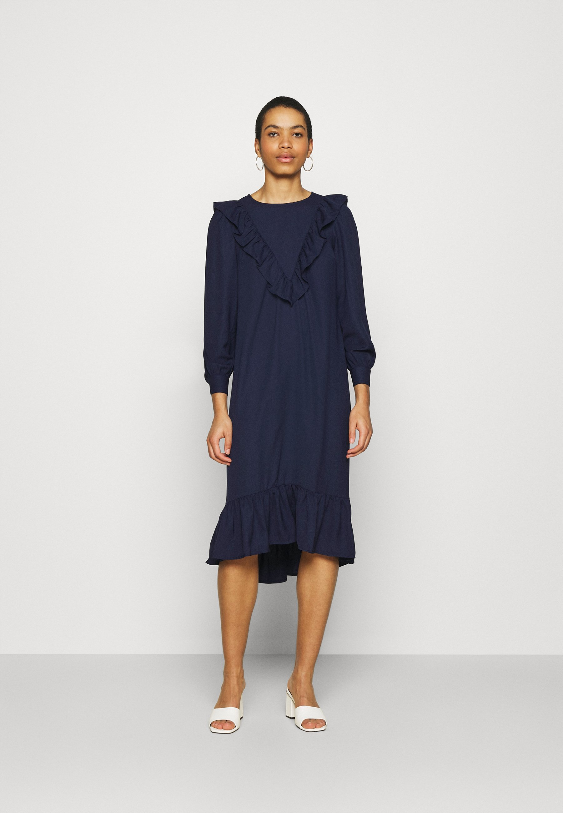 Women FRILL FRONT SMOCK DRESS - Day dress