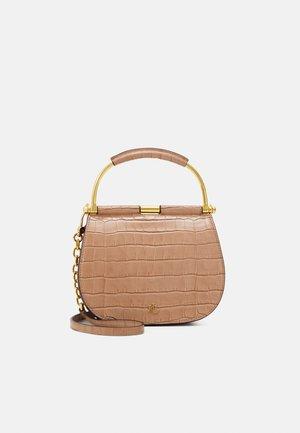 MASON SATCHEL MINI CROC - Handbag - nude