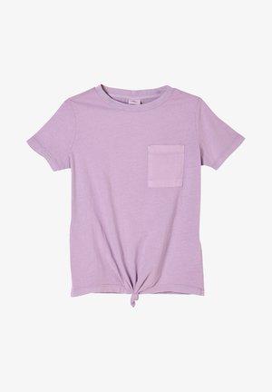 MIT KNOTENDETAIL - T-Shirt print - light purple