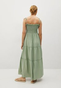 Mango - Maxi dress - pastelgroen - 1
