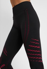 ONLY Play - ONPNAGINI CIRCULAR  - Leggings - black/beet red - 5