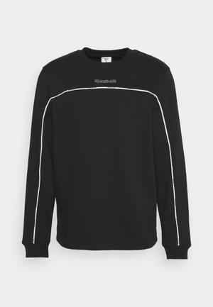 PIPING CREW - Sweatshirt - black